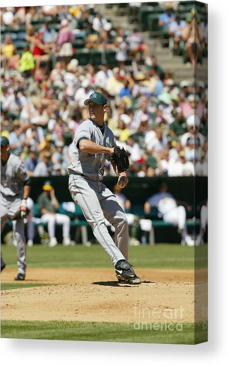 American League Baseball Canvas Print featuring the photograph Scott Kazmir by Don Smith