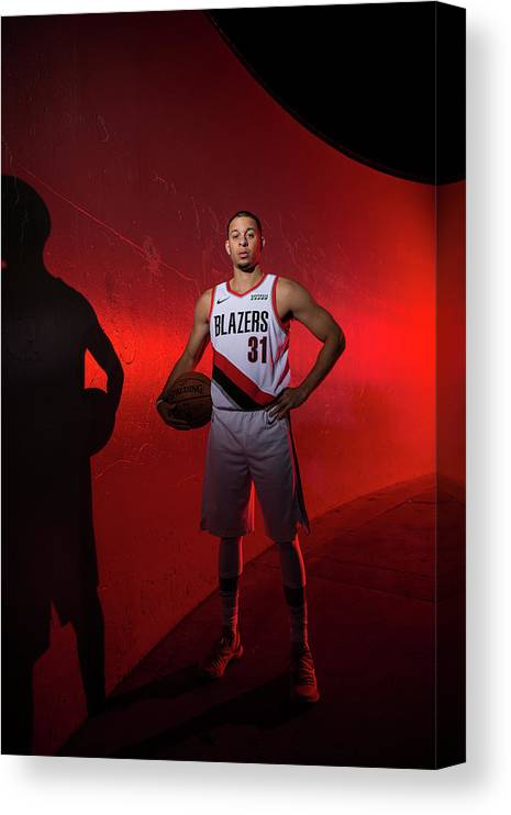 Media Day Canvas Print featuring the photograph Seth Curry by Sam Forencich