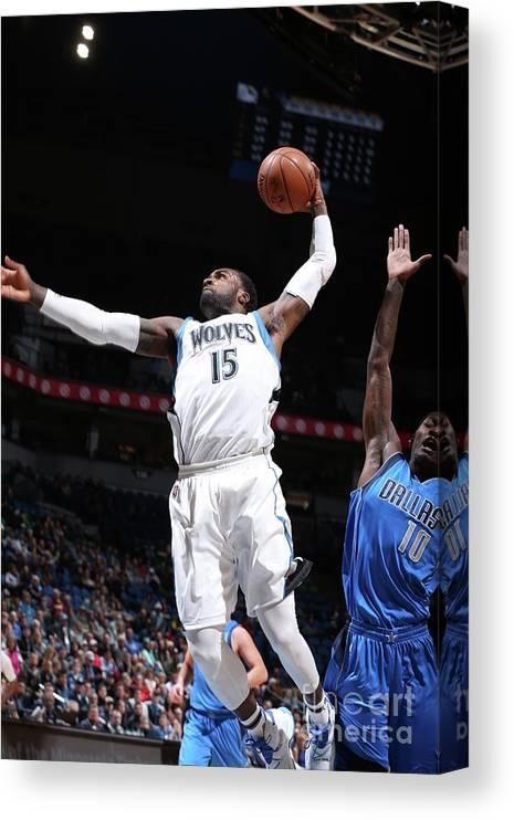 Nba Pro Basketball Canvas Print featuring the photograph Shabazz Muhammad by David Sherman