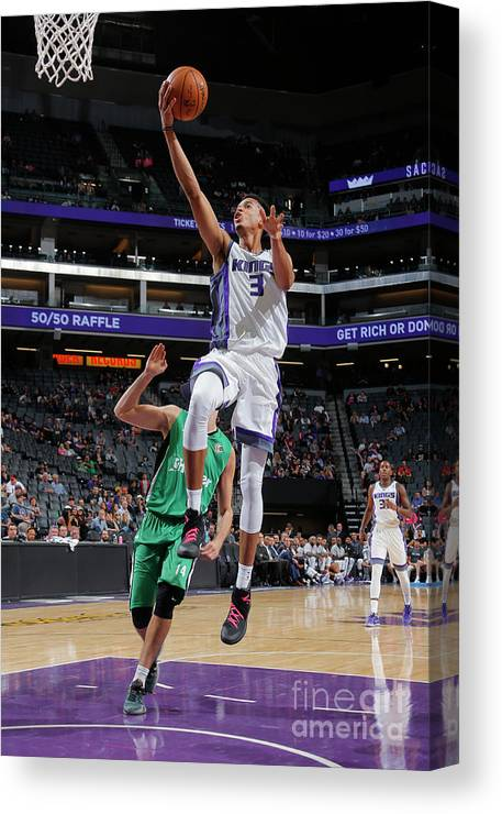 Maccabi Haifa Canvas Print featuring the photograph Skal Labissiere by Rocky Widner