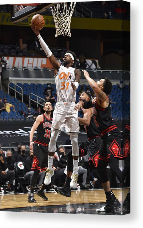 Nba Pro Basketball Canvas Print featuring the photograph Terrence Ross by Gary Bassing