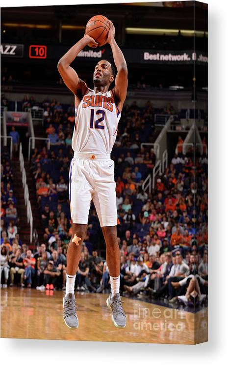Nba Pro Basketball Canvas Print featuring the photograph T.j. Warren by Barry Gossage
