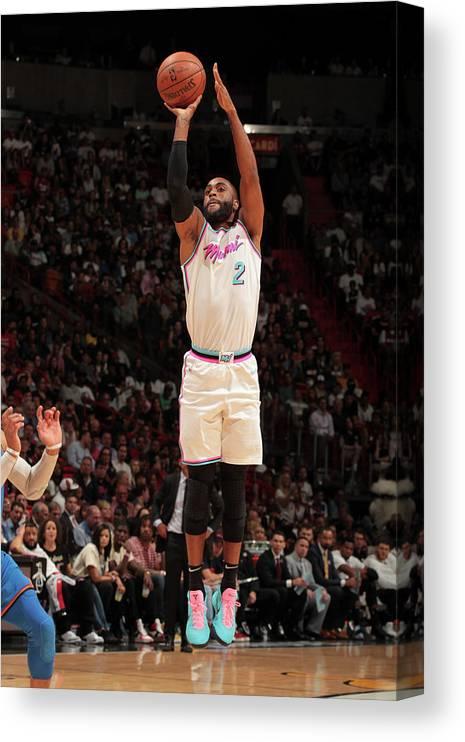 Nba Pro Basketball Canvas Print featuring the photograph Wayne Ellington by Oscar Baldizon