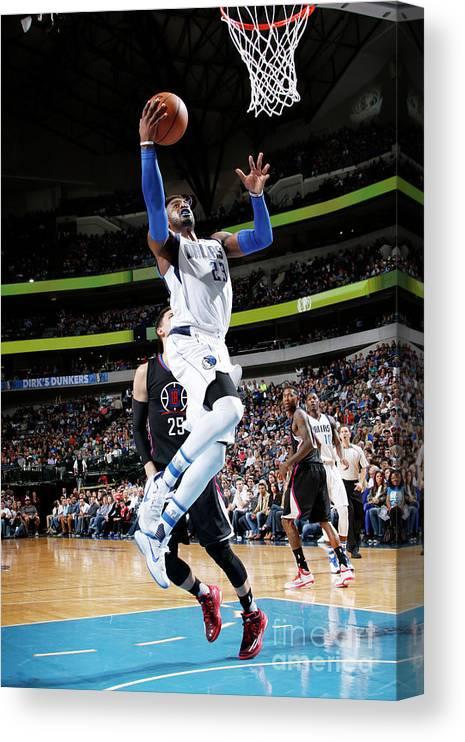 Nba Pro Basketball Canvas Print featuring the photograph Wesley Matthews by Glenn James