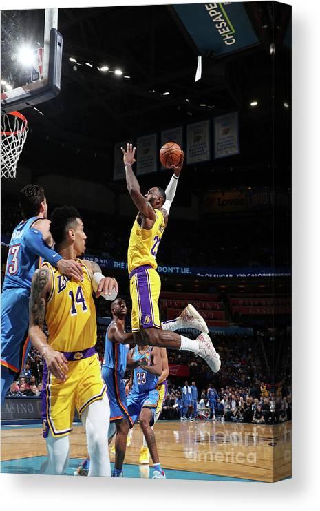 Nba Pro Basketball Canvas Print featuring the photograph Lebron James by Joe Murphy