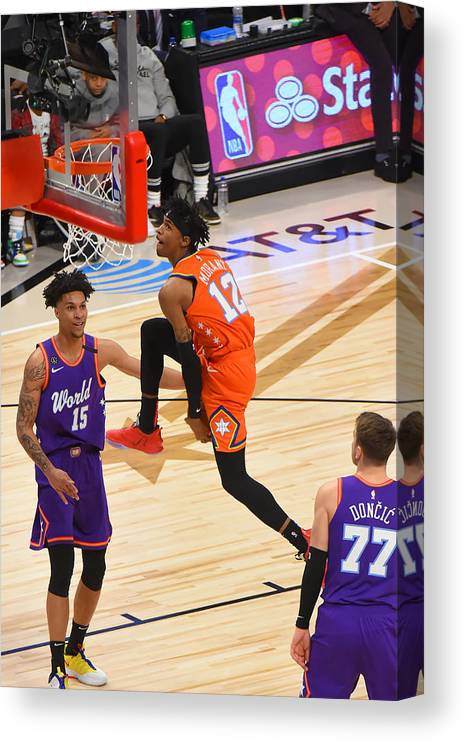 Nba Pro Basketball Canvas Print featuring the photograph 2020 NBA All-Star - Rising Stars Game by Bill Baptist