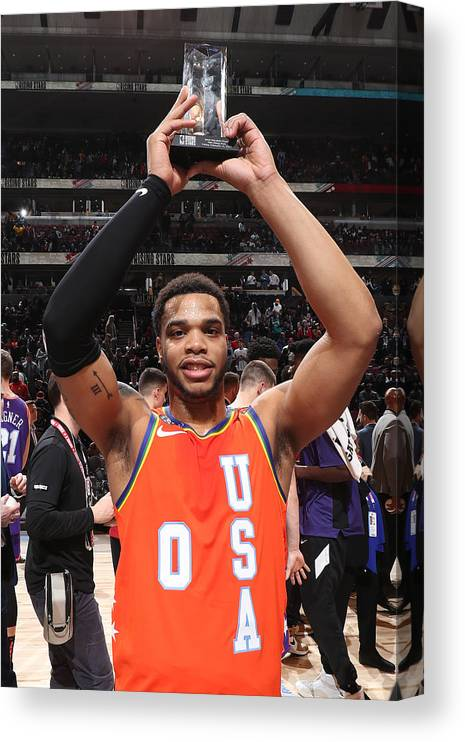 Nba Pro Basketball Canvas Print featuring the photograph 2020 NBA All-Star - Rising Stars Game by Nathaniel S. Butler