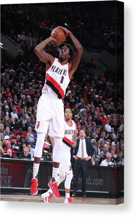 Nba Pro Basketball Canvas Print featuring the photograph Al-farouq Aminu by Sam Forencich