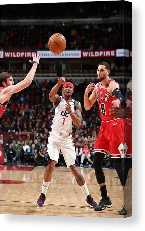Nba Pro Basketball Canvas Print featuring the photograph Bradley Beal by Gary Dineen