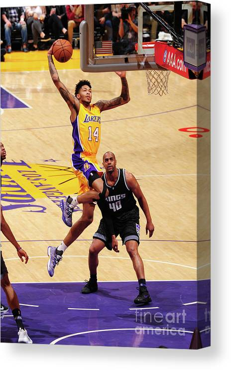 Nba Pro Basketball Canvas Print featuring the photograph Brandon Ingram by Andrew D. Bernstein