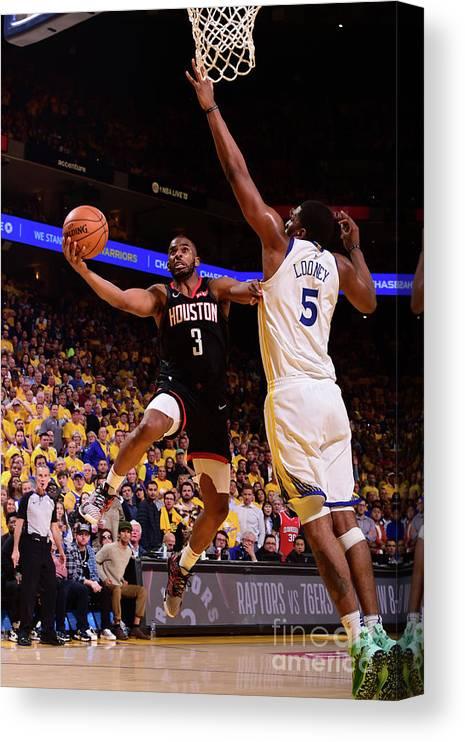 Playoffs Canvas Print featuring the photograph Chris Paul by Noah Graham
