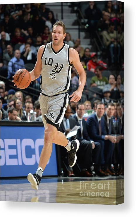 Nba Pro Basketball Canvas Print featuring the photograph David Lee by Mark Sobhani