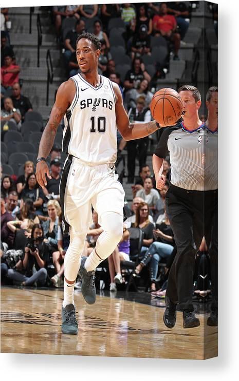 Nba Pro Basketball Canvas Print featuring the photograph Demar Derozan by Nathaniel S. Butler
