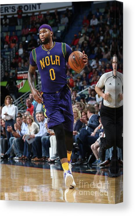 Smoothie King Center Canvas Print featuring the photograph Demarcus Cousins by Layne Murdoch