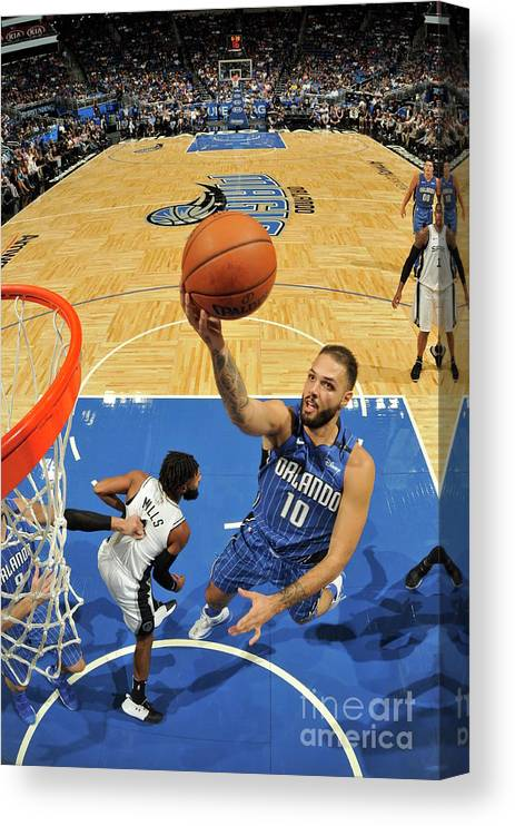 Nba Pro Basketball Canvas Print featuring the photograph Evan Fournier by Fernando Medina