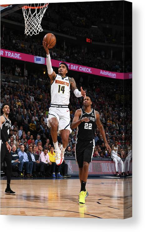 Playoffs Canvas Print featuring the photograph Gary Harris by Garrett Ellwood