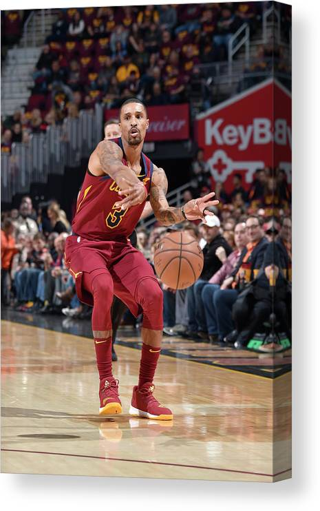 Nba Pro Basketball Canvas Print featuring the photograph George Hill by David Liam Kyle