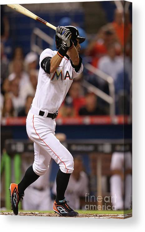Second Inning Canvas Print featuring the photograph Ichiro Suzuki by Rob Foldy
