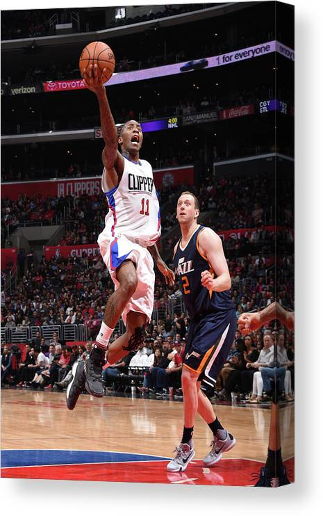 Nba Pro Basketball Canvas Print featuring the photograph Jamal Crawford by Andrew D. Bernstein