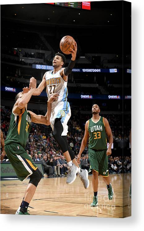 Nba Pro Basketball Canvas Print featuring the photograph Jamal Murray by Garrett Ellwood