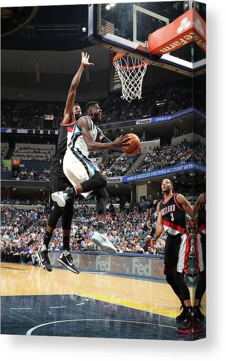 Nba Pro Basketball Canvas Print featuring the photograph James Ennis by Joe Murphy
