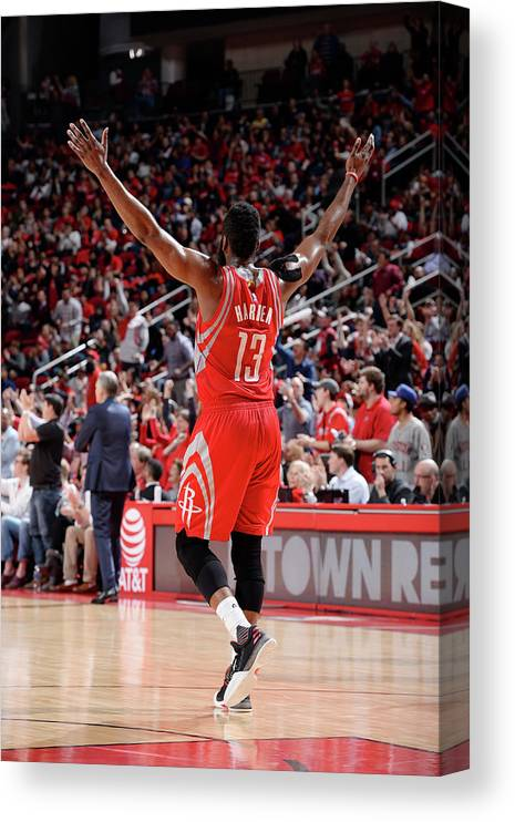 Nba Pro Basketball Canvas Print featuring the photograph James Harden by David Dow