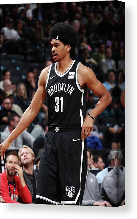 Nba Pro Basketball Canvas Print featuring the photograph Jarrett Allen by Nathaniel S. Butler