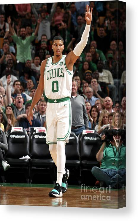 Nba Pro Basketball Canvas Print featuring the photograph Jayson Tatum by Nathaniel S. Butler