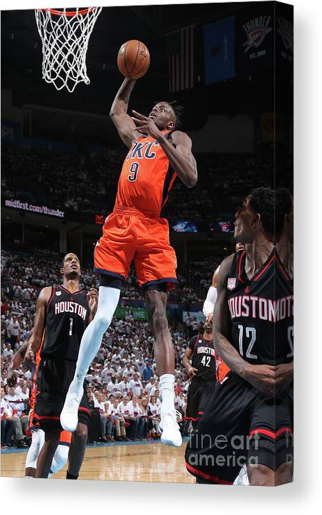 Playoffs Canvas Print featuring the photograph Jerami Grant by Layne Murdoch