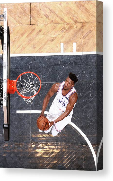 Playoffs Canvas Print featuring the photograph Jimmy Butler by Nathaniel S. Butler