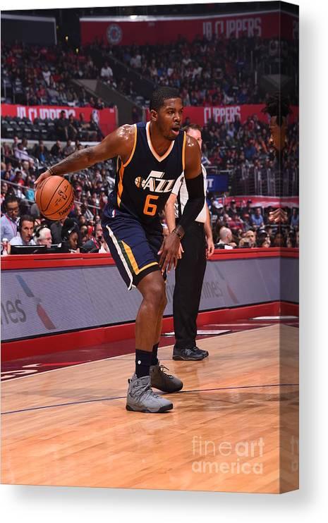 Nba Pro Basketball Canvas Print featuring the photograph Joe Johnson by Andrew D. Bernstein