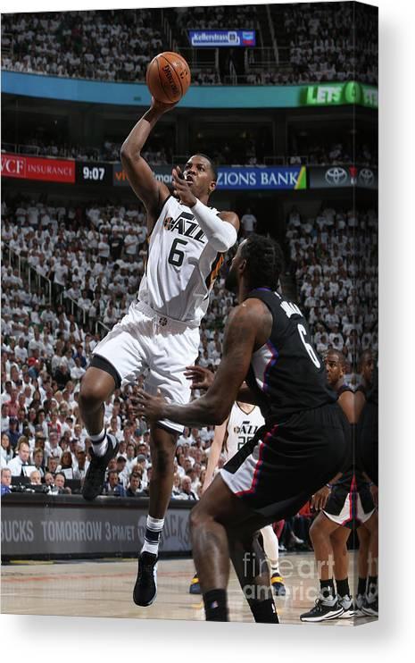 Playoffs Canvas Print featuring the photograph Joe Johnson by Melissa Majchrzak