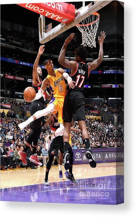 Nba Pro Basketball Canvas Print featuring the photograph Jordan Clarkson by Andrew D. Bernstein