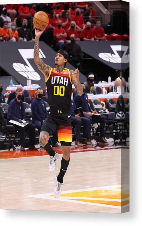 Playoffs Canvas Print featuring the photograph Jordan Clarkson by Melissa Majchrzak