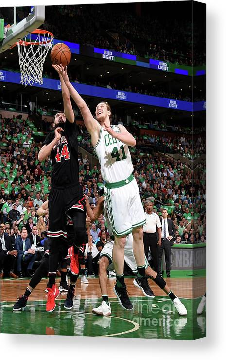 Playoffs Canvas Print featuring the photograph Kelly Olynyk by Brian Babineau