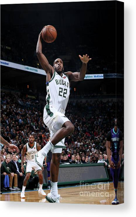 Nba Pro Basketball Canvas Print featuring the photograph Khris Middleton by Gary Dineen