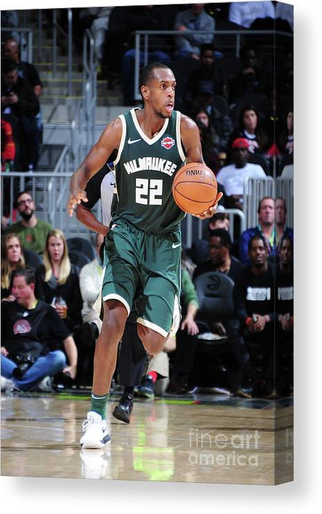 Sport Canvas Print featuring the photograph Khris Middleton by Scott Cunningham