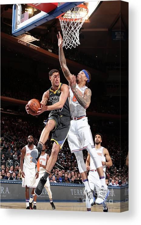 Nba Pro Basketball Canvas Print featuring the photograph Klay Thompson by Nathaniel S. Butler