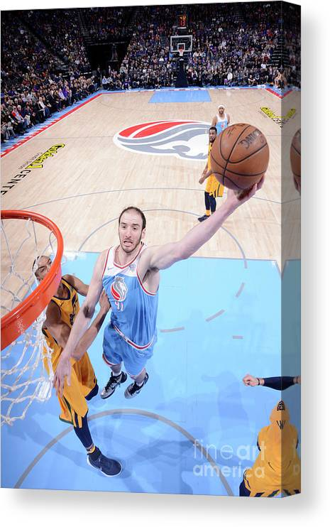 Nba Pro Basketball Canvas Print featuring the photograph Kosta Koufos by Rocky Widner