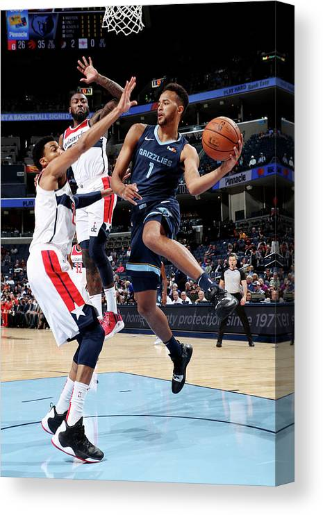 Nba Pro Basketball Canvas Print featuring the photograph Kyle Anderson by Joe Murphy