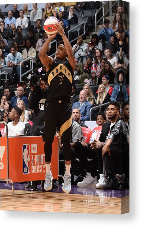 Event Canvas Print featuring the photograph Kyle Lowry by Andrew D. Bernstein