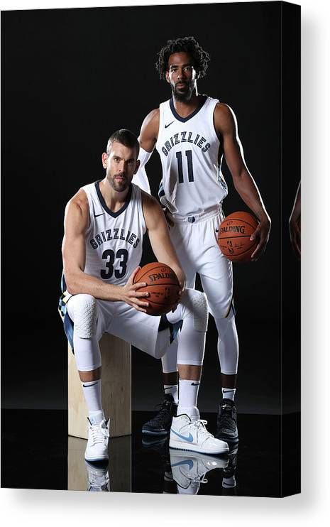 Media Day Canvas Print featuring the photograph Mike Conley by Joe Murphy