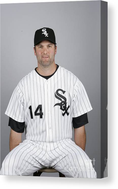 Media Day Canvas Print featuring the photograph Paul Konerko by Ron Vesely