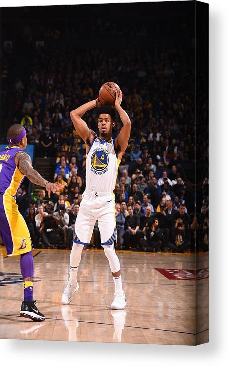 Nba Pro Basketball Canvas Print featuring the photograph Quinn Cook by Noah Graham