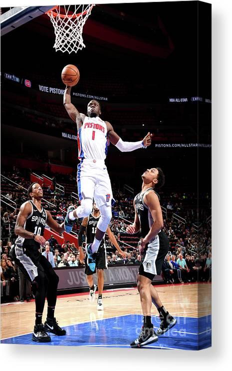 Nba Pro Basketball Canvas Print featuring the photograph Reggie Jackson by Chris Schwegler