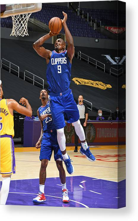 Nba Pro Basketball Canvas Print featuring the photograph Serge Ibaka by Andrew D. Bernstein