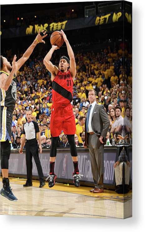 Game Two Canvas Print featuring the photograph Seth Curry by Andrew D. Bernstein