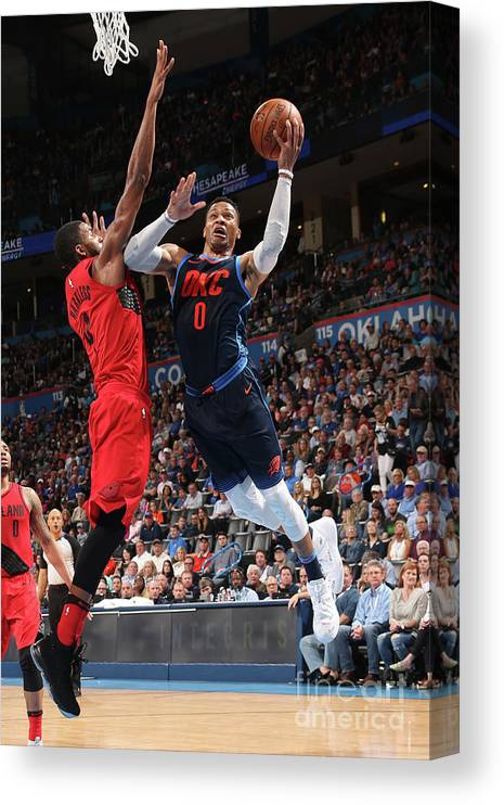 Drive Canvas Print featuring the photograph Russell Westbrook by Layne Murdoch