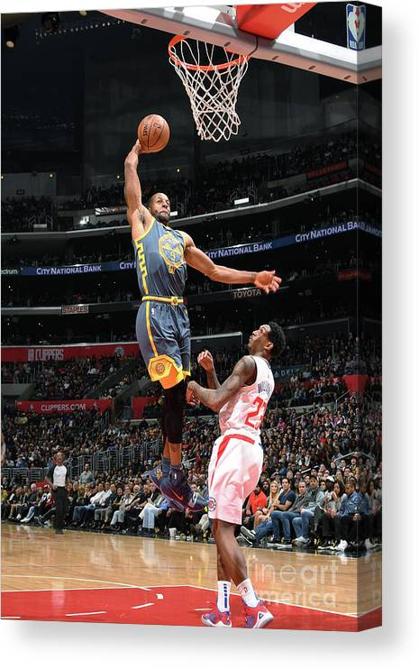 Nba Pro Basketball Canvas Print featuring the photograph Andre Iguodala by Andrew D. Bernstein