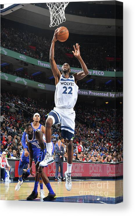 Nba Pro Basketball Canvas Print featuring the photograph Andrew Wiggins by Jesse D. Garrabrant
